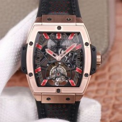 48MM Swiss Made Hand-winding New Titanium Skeleton Hublot MASTERPIECE Tourbillon Best Clone Watch SHB0064