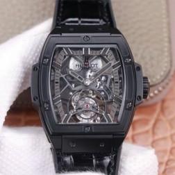 48MM Swiss Made Hand-winding New Titanium Skeleton Hublot MASTERPIECE Tourbillon Best Clone Watch SHB0065