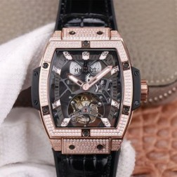 48MM Swiss Made Hand-winding New Titanium Skeleton Hublot MASTERPIECE Tourbillon Best Clone Watch SHB0066