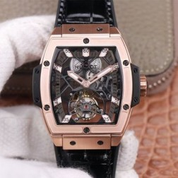 48MM Swiss Made Hand-winding New Titanium Skeleton Hublot MASTERPIECE Tourbillon Best Clone Watch SHB0067