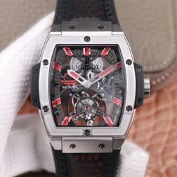 48MM Swiss Made Hand-winding New Titanium Skeleton Hublot MASTERPIECE Tourbillon Best Clone Watch SHB0069
