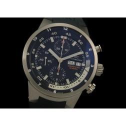 Replica IWC Aquatimer Cousteau Divers Chronograph Watch Dark Blue Dial Swiss Movement SIW024