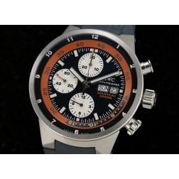 Replica IWC Aquatimer Cousteau Divers Calypso Chronograph Watch Dark Blue Dial Rubber Strap SIW025