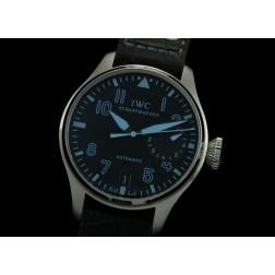 Replica IWC Big Pilot Chronograph Watch Black Dial Blue Numerals 46mm Swiss Movement SIW031