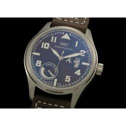 Replica IWC Big Pilot Power Reverse Watch Black Dial Brown Leather Strap Swiss Movement SIW034