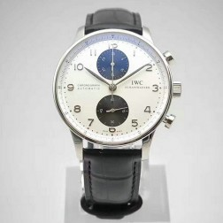 AAA Replica Swiss Made IWC Portuguese 40mm White Dial with Black Sub Dials SIW109