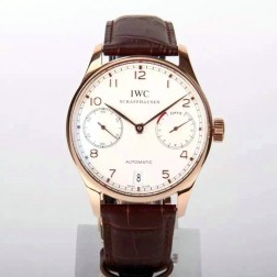 Exact Copy IWC Portuguese IW500704 Swiss Made 42mm Rose Gold Case White Dial SIW110