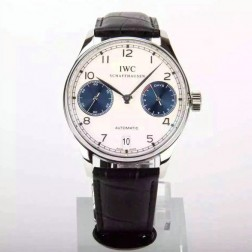 Exact Replica IWC Portuguese IW500703 Swiss Made 42mm White Dial with Blue Sub Dials SIW111