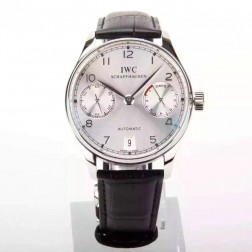 1:1 Replica IWC Portuguese 7 Days Swiss Made 42mm SS Case Silver Dial SIW115