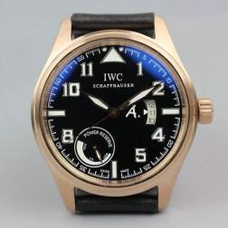 AAA Replica IWC Pilot Antoine de Saint Exupery 44mm Rose Gold Case Brown dial SIW131