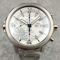 Swiss Replica IWC Aquatimer Watch IW376802 White Dial Stainless Steel Bracelet SIW135
