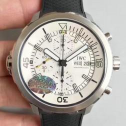 Swiss Replica IWC Aquatimer Watch IW376802 White Dial Black Rubber Straps SIW136