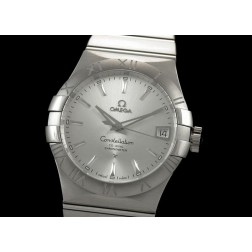 Replica Omega Constellation Men Watch Silver Dial Stainless Steel Case Swiss Movement SOC002