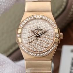 Best Replica 1:1 Swiss Quartz Omega Constellation Watch 27MM SOC0025