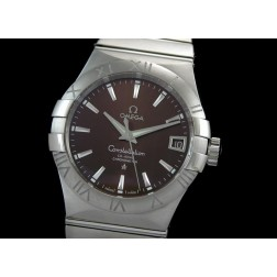 Replica Omega Constellation Men Watch Brown Dial Stainless Steel Case Swiss Movement SOC003