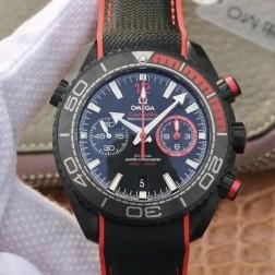 Best Replica 1:1 Swiss Automatic Omega Seamaster Deep Black Watch 45MM SOS0023