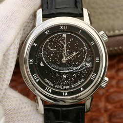 Best 1:1 Mirror Replica Patek Philippe Celestial 5102G Moonphase Watch Black Dial SPP001