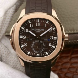 Swiss Made 1:1 Mirror Replica Patek Philippe Aquanaut Travel Time 5164R-001 Rose Gold SPP031