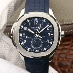 Swiss Made 1:1 Mirror Replica Patek Philippe Aquanaut Travel Time 5164A-001 Blue Dial SPP032