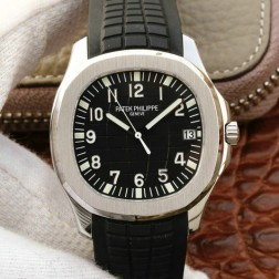 Swiss Made 1:1 Mirror Replica Patek Philippe Aquanaut 5167A-001 Black Dial SPP033