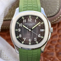 Swiss Made 1:1 Mirror Replica Patek Philippe Aquanaut 5167A-008 Green Band SPP035