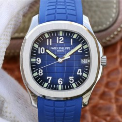 Swiss Made 1:1 Mirror Replica Patek Philippe Aquanaut 5168G-001 Blue Dial SPP037