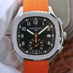 Swiss Made 1:1 Mirror Replica Patek Philippe Aquanaut 5968A-001 Black Dial Watch SPP044