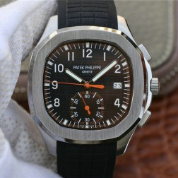 Swiss Made 1:1 Mirror Replica Patek Philippe Aquanaut 5968A-001 Black Dial Watch SPP045
