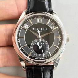 1:1 Mirror Replica Patek Philippe 5205G-010 Complications Black Dial Swiss Made Watch SPP051
