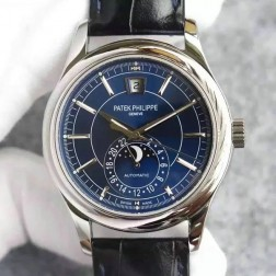 1:1 Mirror Replica Patek Philippe Complications Moon Phase Blue Dial Swiss Made Watch SPP054