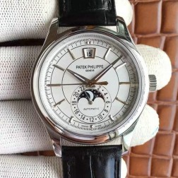 1:1 Mirror Replica Patek Philippe Complications Moon Phase White Dial Swiss Made Watch SPP056
