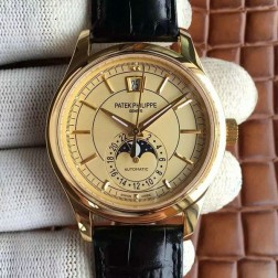 1:1 Mirror Replica Patek Philippe Complications Moon Phase Yellow Gold Swiss Made Watch SPP058