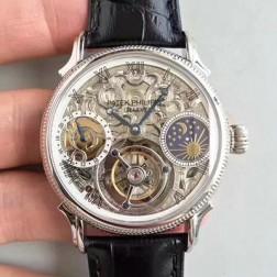 1:1 Mirror Replica Patek Philippe Skeletal Dial Swiss Made Tourbillon Watch SPP060