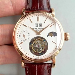 1:1 Mirror Replica Patek Philippe 18k Rose Gold Swiss Made Tourbillon Watch SPP062