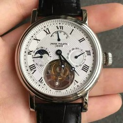 1:1 Mirror Replica Patek Philippe Complications White Dial Swiss Made Tourbillon Watch SPP065