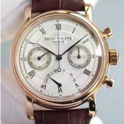 1:1 Mirror Replica Patek Philippe Chronograph Complications Rose Gold Watch Swiss Made SPP066