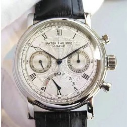 1:1 Mirror Replica Patek Philippe Chronograph Complications Watch White Dial Swiss Made SPP067