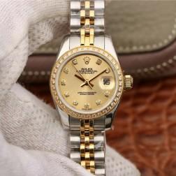 28MM Swiss Made Automatic New Version Ladies Rolex Woman Watch SR0027