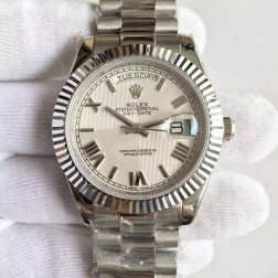 New Best Swiss Made Rolex Day-Date II 228239 White Quadrant Dial Fluted Bezel 1:1 Mirror Quality SRDD119