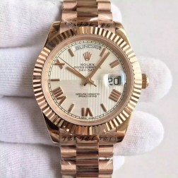 New Swiss Made Rolex Day-Date II 228239 Rose Gold Case White Quadrant Dial 1:1 Mirror Quality SRDD121