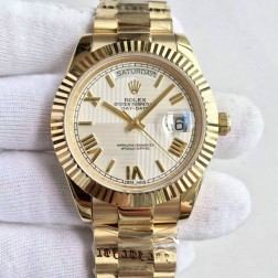 New Swiss Made Rolex Day-Date II 228239 18k Yellow Gold Case White Quadrant Dial 1:1 Mirror Quality SRDD122