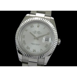Replica Rolex Datejust II Men Watch Silver Dial 41mm Oyster Stainless Steel Bracelet SRDJ001