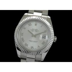Replica Rolex Datejust II Men Watch Silver Dial 41mm Oyster Stainless Steel Bracelet SRDJ001