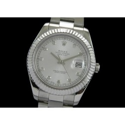 Replica Rolex Datejust II Men Watch Silver Dial Diamond Numerals 41mm Oyster Bracelet SRDJ003