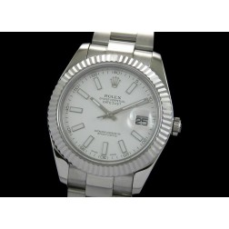 Replica Rolex Datejust II Men Watch White Dial White Stick Numerals Oyster Bracelet SRDJ005