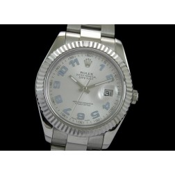 Replica Rolex Datejust II Men Watch Silver Dial White Arabic Numerals Oyster Bracelet SRDJ009