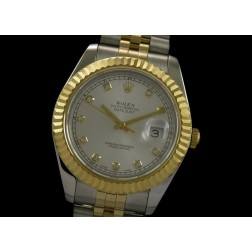 Replica Rolex Datejust II Men Watch Two Tone Case Diamond Numerals Jubilee Bracelet SRDJ014