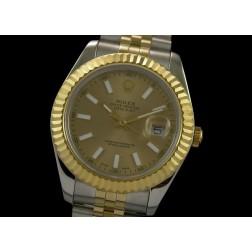 Replica Rolex Datejust II Men Watch Two Tone Case 18K Yellow Gold Dial Jubilee Bracelet SRDJ016