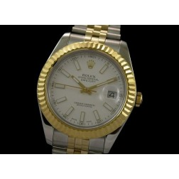 Replica Rolex Datejust II Men Watch Two Tone Case White Dial 41mm Jubilee Bracelet SRDJ017