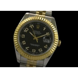 Replica Rolex Datejust II Men Watch Two Tone Case Arabic Numerals Jubilee Bracelet SRDJ019
